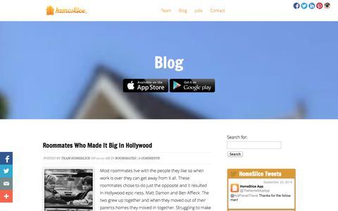 Screenshot of Blog homesliceapp.com - Blog - HomeSlice App | HomeSlice App - captured Oct. 2, 2014