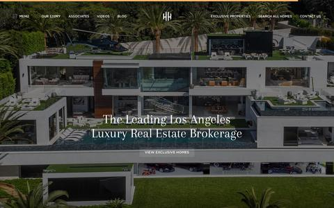 Screenshot of Home Page hiltonhyland.com - Hilton & Hyland | Beverly Hills Real Estate | Hilton & Hyland | Los Angeles Estates - captured July 19, 2018