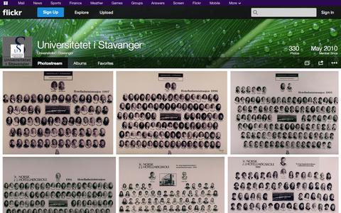 Screenshot of Flickr Page flickr.com - Flickr: Universitetet i Stavanger's Photostream - captured Oct. 22, 2014