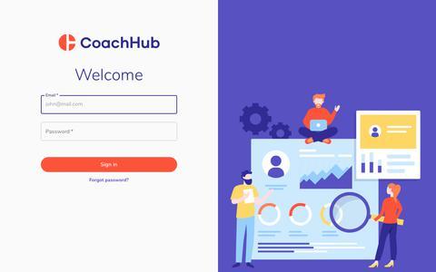 Screenshot of Login Page coachhub.io - CoachHub - Digital Coaching Area - captured Dec. 4, 2019