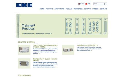 Screenshot of Products Page eke-electronics.com - EKE-Electronics - PRODUCTS - captured Nov. 9, 2018