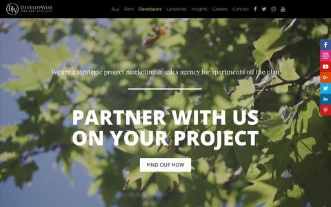 Screenshot of Developers Page developwise.com.au - DevelopWise - Project Marketing for Apartment Developers - captured Nov. 6, 2018