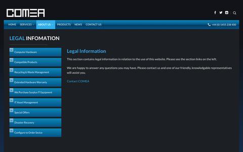 Screenshot of Terms Page comea.com - Legal - Comea - captured Aug. 17, 2017