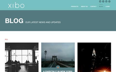 Screenshot of Blog xibomarketing.com - Blog   XIBO - captured Oct. 3, 2014
