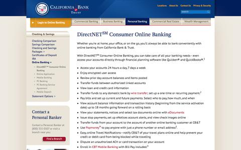 Screenshot of Signup Page calbanktrust.com - DirectNET℠ Consumer Online Banking | California Bank & Trust - captured June 24, 2017