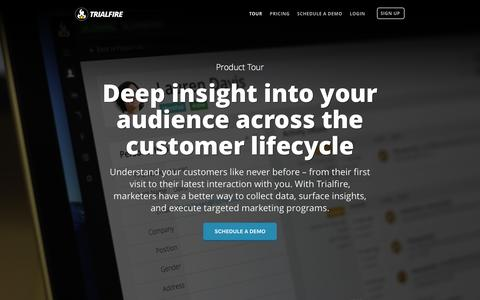 Tour | Customer Intelligence & Analytics | Trialfire