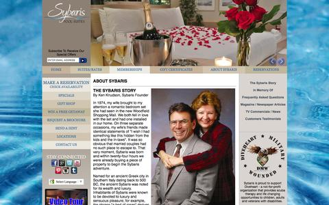 Screenshot of About Page sybaris.com - About Sybaris - captured Feb. 5, 2016