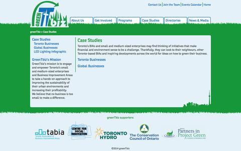 Screenshot of Case Studies Page greentbiz.org - Case Studies | greenTbiz - captured Sept. 30, 2014