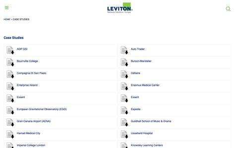 Screenshot of Case Studies Page brand-rex.com - Case Studies | Leviton Network Solutions Europe - captured Nov. 6, 2018