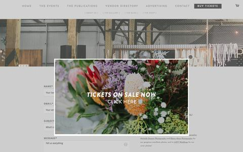 Screenshot of Contact Page pure-bride.com.au - Contact | Pure Bride Expo and Magazine - captured Feb. 10, 2018