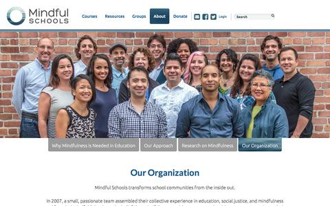 Screenshot of Team Page mindfulschools.org - Meet Our Team | Mindful Schools - captured Jan. 15, 2018