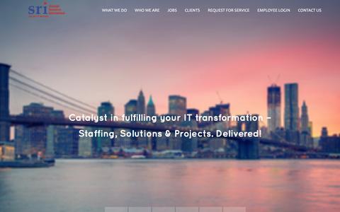 Screenshot of Home Page sriusa.com - Sri USA - captured Dec. 10, 2015