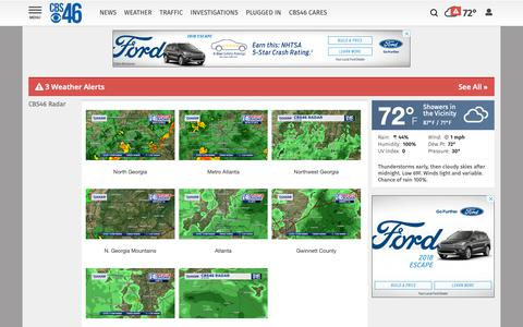 Screenshot of Maps & Directions Page cbs46.com - Atlanta Weather Maps | cbs46.com - captured Sept. 27, 2018