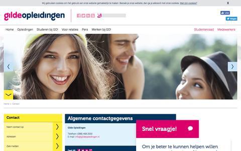 Screenshot of Contact Page gildeopleidingen.nl - Contact - captured May 18, 2017
