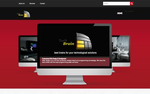 Screenshot of Home Page techbrain-solutions.com - Welcome to TechBrain - captured Oct. 7, 2014