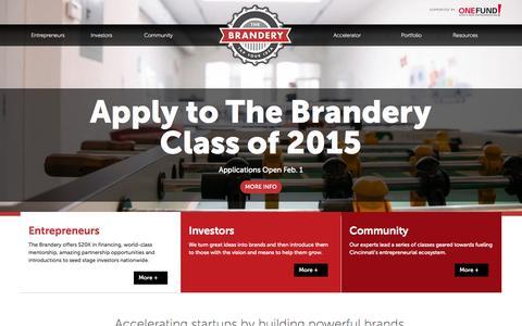 Screenshot of Home Page brandery.org - Home — The Brandery - captured Jan. 28, 2015