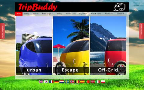 Screenshot of Home Page tripbuddy.co.uk - Tripbuddy | Homepage - captured Oct. 8, 2014