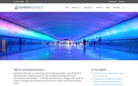 Screenshot of Home Page jacobsendaniels.com - Jacobsen|Daniels | Jacobsen|Daniels - captured Nov. 26, 2016