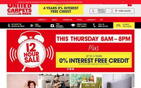 Screenshot of Home Page unitedcarpetsandbeds.com - Cheap Carpets, Beds & Mattresses | United Carpets & Beds - United Carpets And Beds - captured Dec. 3, 2016