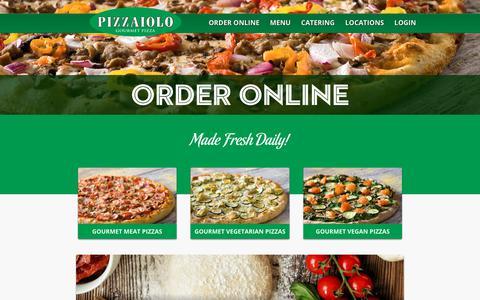 Screenshot of Menu Page pizzaiolo.ca - Pizzaiolo   Pizza Menu   Order Pizza Online   Toronto Pizza Delivery - captured July 19, 2018