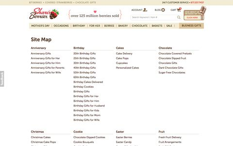 Screenshot of Site Map Page berries.com captured May 16, 2017