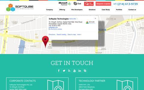 Screenshot of Contact Page softqubes.com - Contact | Contact Us – Softqubes.com - captured Oct. 30, 2014