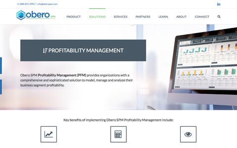 Profitability Management - Obero SPM