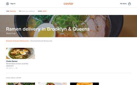 Ramen delivery in Brooklyn & Queens | Caviar