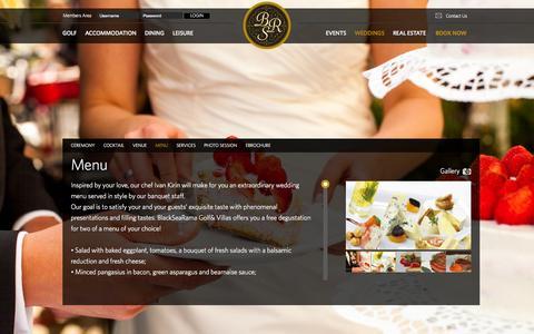 Screenshot of Menu Page blacksearama.com - Menu - captured Oct. 5, 2014