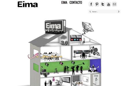 Screenshot of Home Page eima.es - Escuela Internacional de Medios Audiovisuales - captured Nov. 9, 2016