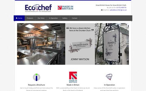 Screenshot of Home Page eco-chef-gb.co.uk - Eco Chef | Ech Chef i | Bespoke British made cooking suite - captured May 22, 2016