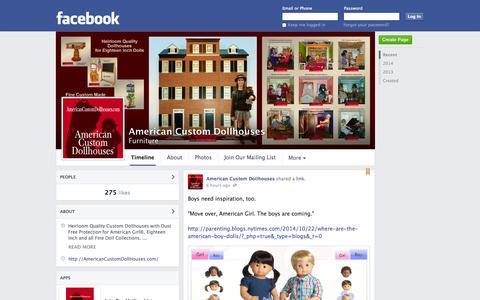 Screenshot of Facebook Page facebook.com - American Custom Dollhouses | Facebook - captured Oct. 23, 2014