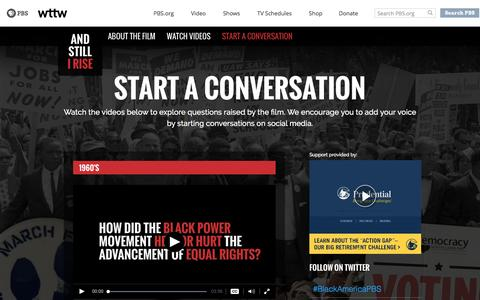 Screenshot of FAQ Page pbs.org - Start a Conversation – And Still I Rise - captured Nov. 23, 2016