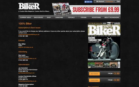 Screenshot of Contact Page 100-biker.com - 100% Biker   100% Biker - captured Nov. 22, 2018
