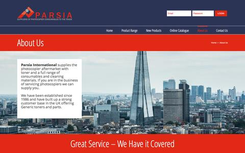 Screenshot of About Page parsia.co.uk - About Us – PARSIA - captured Oct. 21, 2016