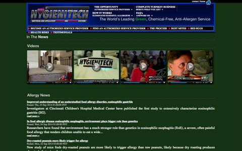 Screenshot of Press Page hygienitech.com - Hygienitech In The News - captured Sept. 30, 2014