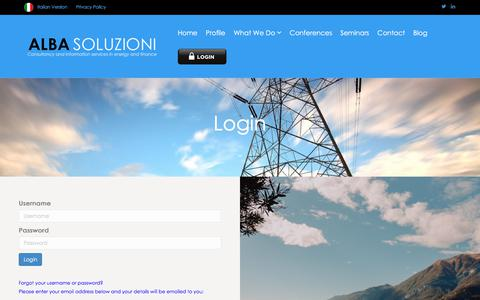 Screenshot of Login Page albasoluzioni.com - Login – Alba Soluzioni - captured July 29, 2018
