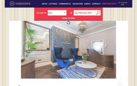 Screenshot of Home Page hudsonsproperty.com - West End & Central London Property Estate Agents - Hudsons - captured Sept. 16, 2017