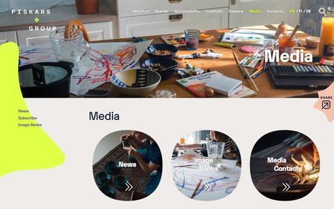 Screenshot of Press Page fiskarsgroup.com - Media | Fiskars Group - captured Nov. 2, 2019