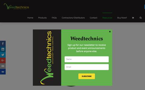 Screenshot of Case Studies Page weedtechnics.com - Case Studies Archives - Saturated Steam Weed Killer - captured Sept. 21, 2018