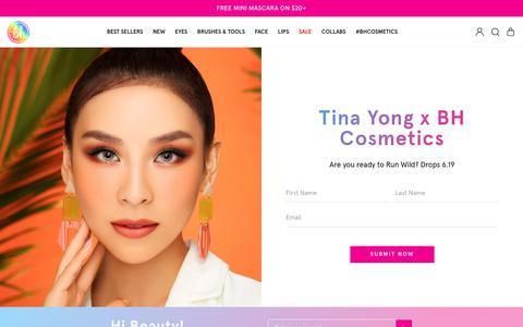 Screenshot of Signup Page bhcosmetics.com - Tina Sign Up                      – BH Cosmetics - captured June 10, 2019