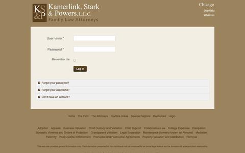 Screenshot of Login Page fam-atty.com - KSP - Kamerlink, Stark and Powers - family law attorneys - KSP - Kamerlink, Stark and Powers - family law attorneys - captured Oct. 6, 2014