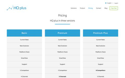 Screenshot of Pricing Page hqplus.de - Pricing - HQplus - captured Dec. 28, 2016