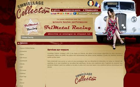 Screenshot of Services Page embiellage-collector.com - Embiellage Collector – Coussinets de bielles – Coussinets de paliers – Pièces pour véhicules de collection - captured Jan. 28, 2016