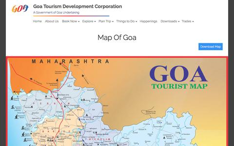 Screenshot of Maps & Directions Page goa-tourism.com - GTDC - captured March 20, 2018