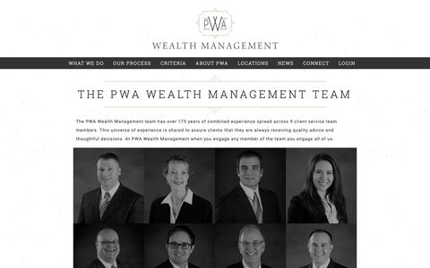 Screenshot of Team Page pwausa.com - Wealth Management Team - Financial Advisors In Pittsburgh - captured Nov. 11, 2018
