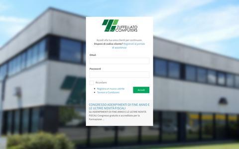 Screenshot of Login Page zuffellato.com - Area Clienti - Zuffellato Computers - captured Dec. 11, 2016