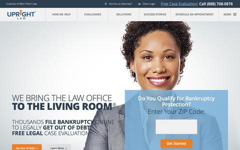 File Bankruptcy Online, Get Out of Debt Attorney | UpRight Law