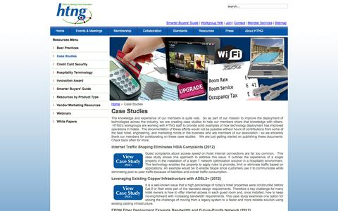 Screenshot of Case Studies Page htng.org - Case Studies - captured Oct. 3, 2014