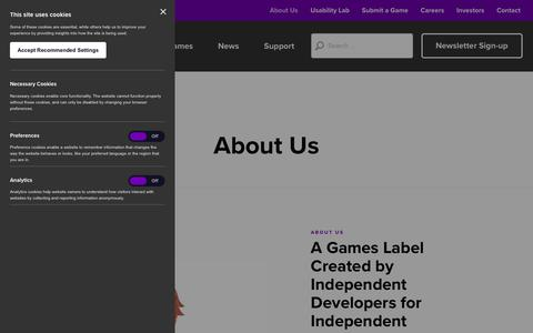 Screenshot of About Page team17.com - About Us - Team17 Group PLC - captured Sept. 24, 2018